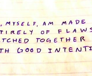 stitched, good intentions, and flaws image