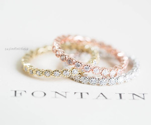 wedding ring and engagement ring image