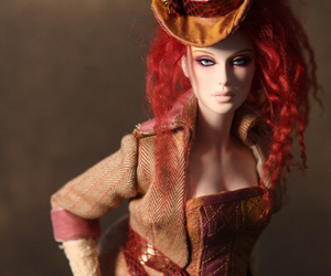 girl, steampunk, and red hair image