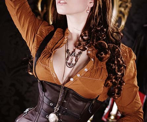 steampunk, corset, and fashion image