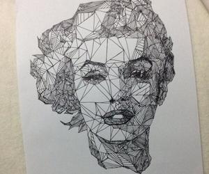 drawing, marilyn, and Marilyn Monroe image