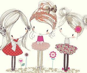 art, girls, and illustrations image