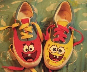 shoes, patrick, and spongebob image