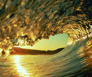 waves, water, and sun image