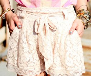 fashion, lace, and shorts image