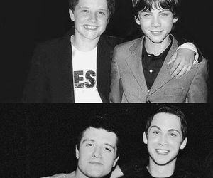 logan lerman, josh hutcherson, and boy image