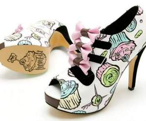 shoes, cupcake, and heels image