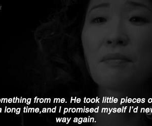 cristina, greys anatomy, and quote image