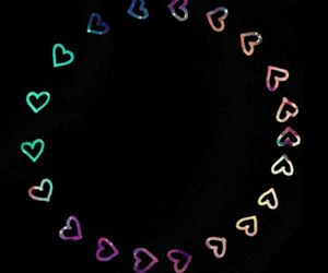 circle, galaxy, and hearts image