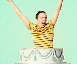 cake, sheldon, and sheldon cooper image