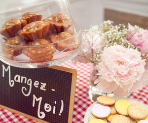 flowers, food, and muffins image