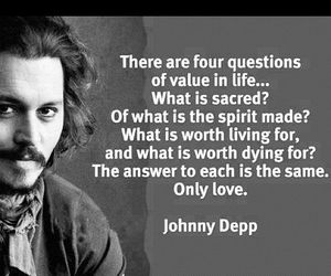 johnny depp, questions, and quote image