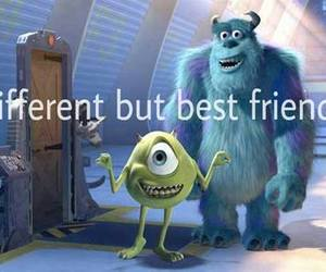 best friends, different, and monster image