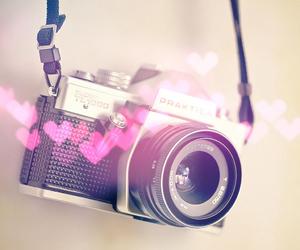 camera, hearts, and photo image
