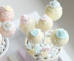 pastel, cake pops, and food image