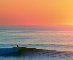 beach, surf, and ocean image