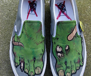 vans, shoes, and zombie image