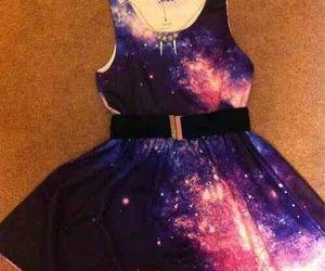 dress, galaxy, and cute image