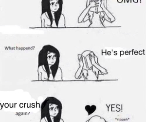 crush, perfect, and love image