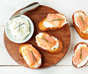 food, salmon, and bread image
