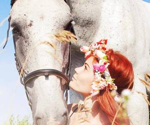 horse, beautiful, and girl image