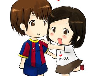 anime, football, and girl image