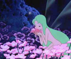 flowers, fairy, and cartoon image