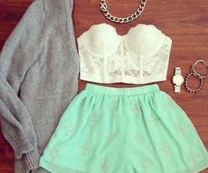 bracelets, skirt, and watch image
