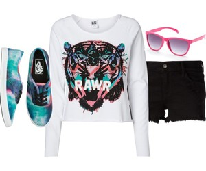 clothes, rawr, and vans image