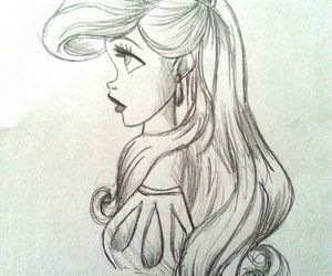 ariel, sketch, and love image
