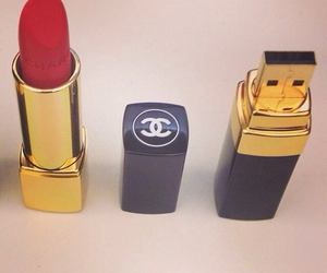 lipstick, chanel, and red image