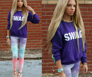 fashion, swag, and blonde image