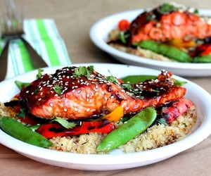 asia, salmon, and delicious image