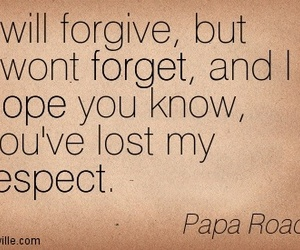 forget, papa roach, and respect image