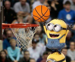 minions, basket, and Basketball image