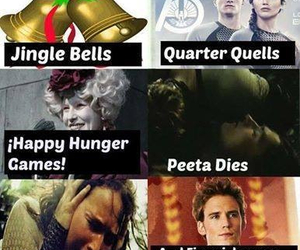 jingle bells, the hunger games, and catniss image