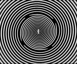 black and white, psicodelico, and hipnotico image