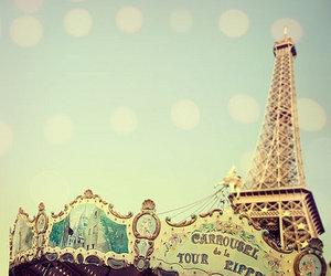 paris, eiffel tower, and carrousel image