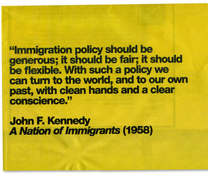 immigration and john f kennedy image