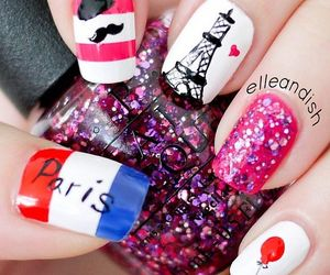 nails, paris, and nail art image