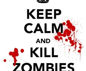 zombies, keep calm, and kill image