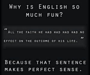 english, funny, and language image