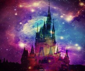 disney, galaxy, and castle image