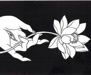 black and white, tumblr, and hamsa image