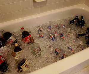 alcohol, bathroom, and drinks image
