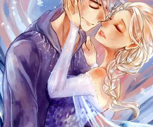 stolen art and frozen elsa x jack frost image