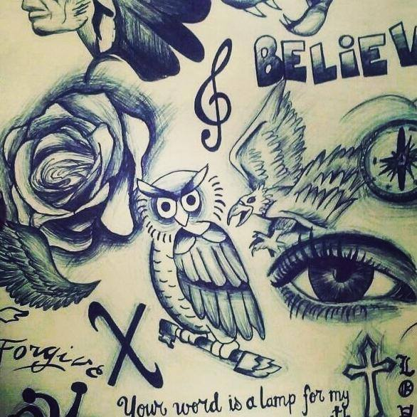 justin s tattoos uploaded by dana on we heart it