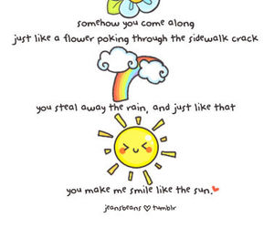 quote, sun, and rainbow image