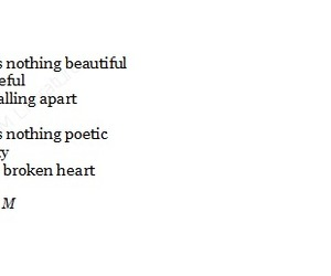 broken, heart, and poem image