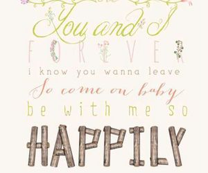one direction, happily, and Lyrics image